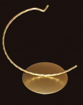 Złoty wieszak na bombkę 10/12cm
